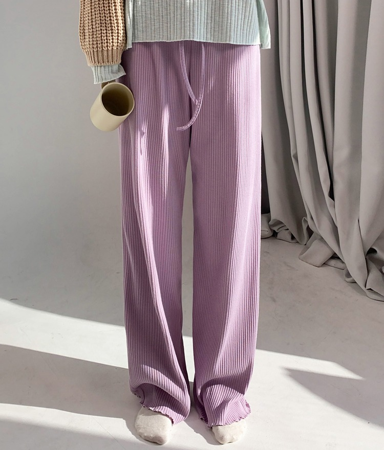 QUIETLABLettuce Hem Ribbed Pants