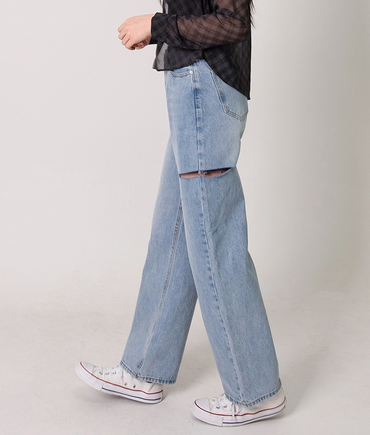 ESSAYRip Accent Loose Denim Pants