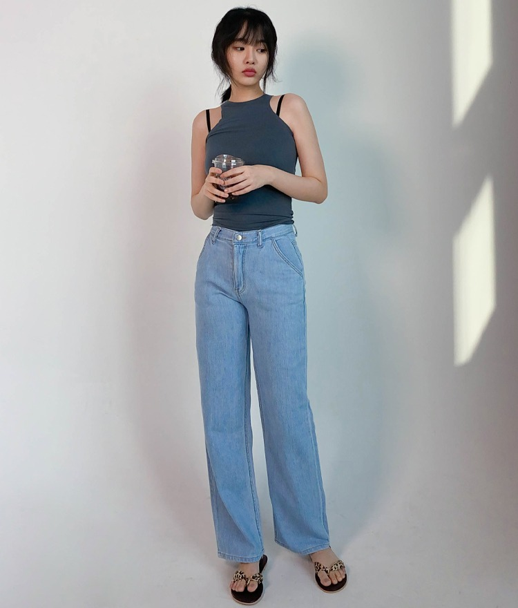 NEVERM!NDBasic Wide-Leg Jeans