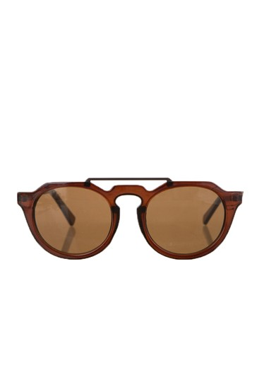 Modified Round Frame Sunglasses