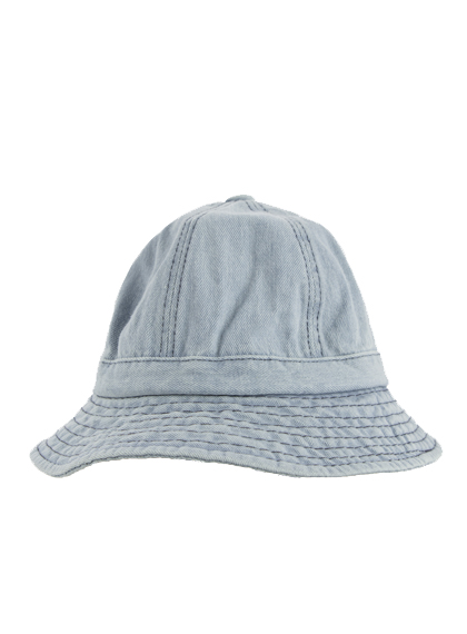 Contrast Stitch Denim Bucket Hat