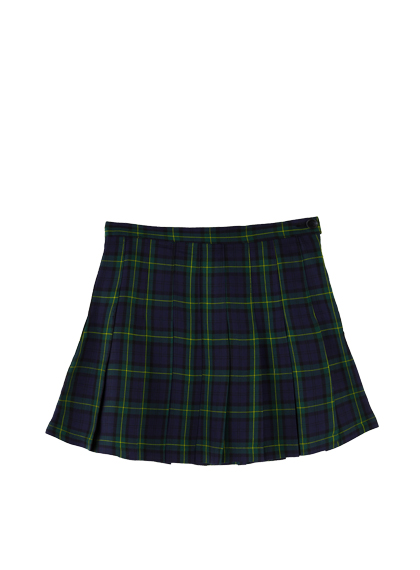 High Waist Tartan Skirt