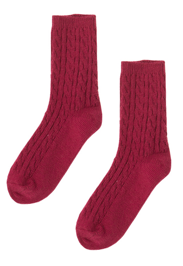 Twist Knit Crew Length Socks