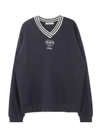 HEARTS CLUB V-Neck Sweatshirt